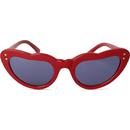 CUTLER AND GROSS Gothic heart-frame sunglasses (Red