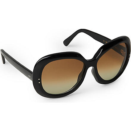 CUTLER AND GROSS Classic Jackie O round-frame sunglasses (Black