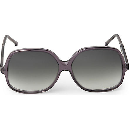 CUTLER AND GROSS Square-frame sunglasses (Grey/pink