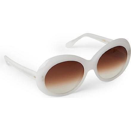 CUTLER AND GROSS Classic Jackie O round-frame sunglasses (White
