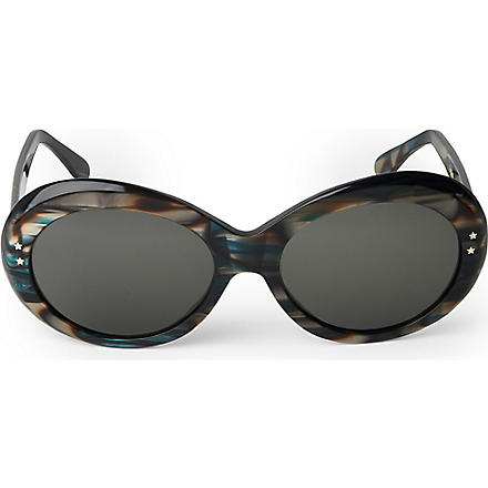 CUTLER AND GROSS Classic Jackie O round-frame sunglasses (Green