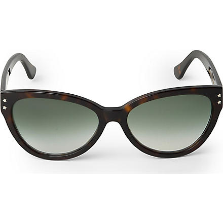 CUTLER AND GROSS Classic tortoiseshell cat-eye sunglasses (Green