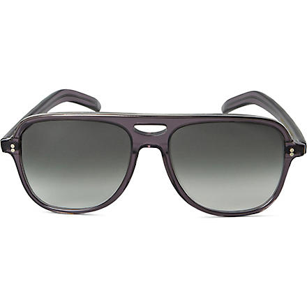 CUTLER AND GROSS Glitter-effect unisex aviator-style sunglasses (Black