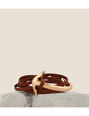 MIANSAI Leather anchor bracelet