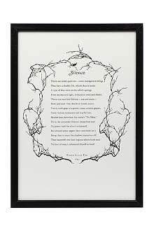 THE IDLER ACADEMY Edgar Allen Poe text print