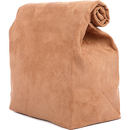 STRIIIIPES Suede lunch bag (Brown