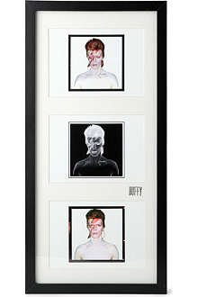 CHRIS DUFFY STUDIO David Bowie Aladdin Sane Triptych mounted print