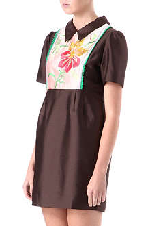 YEASHIN Embroidered-bib shift dress