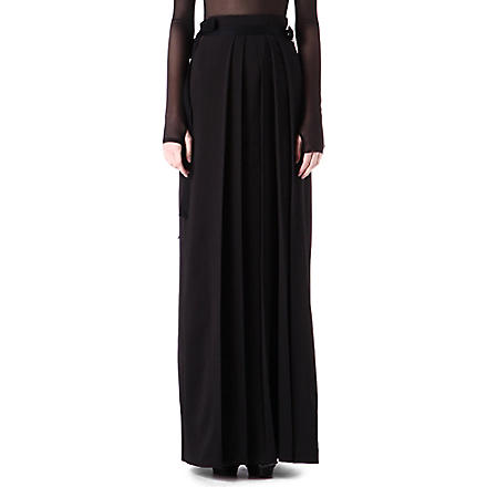 DANIEL POLLITT Pleated maxi skirt (Black