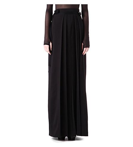 DANIEL POLLITT Pleated maxi skirt (Black