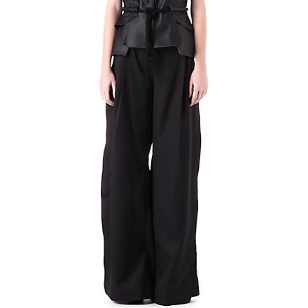 DANIEL POLLITT Side-split trousers (Black
