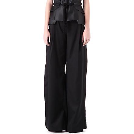 DANIEL POLLITT Side-split trousers (Black