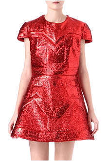 SADIE WILLIAMS Embossed lurex dress