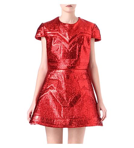 SADIE WILLIAMS Embossed lurex dress (Red