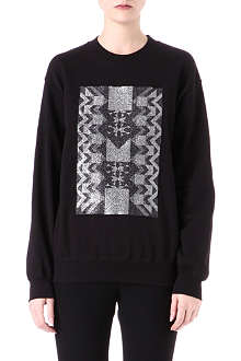 SADIE WILLIAMS Lurex-panel sweatshirt
