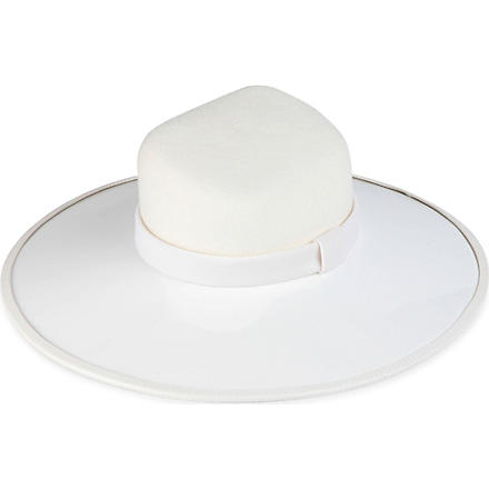 KEELY HUNTER Large brim hat (White