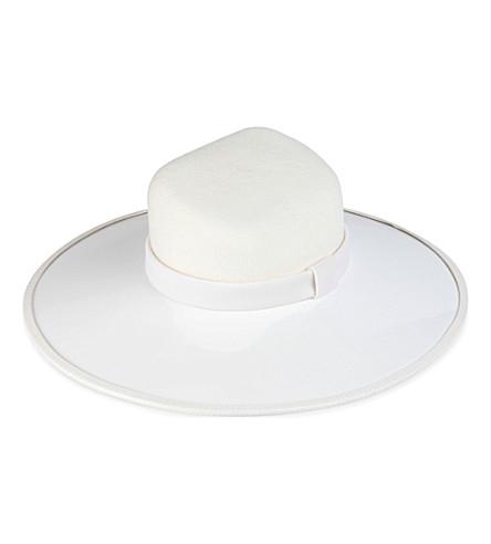 KEELY HUNTER Large brim hat (White