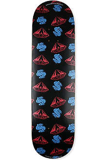 BILLIONAIRE BOYS CLUB Diamonds and dollars-print skateboard deck