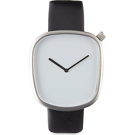 DEZEEN WATCH STORE Pebble watch (White/black