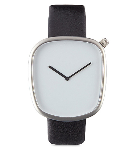 DEZEEN WATCH STORE Pebble watch (White/black