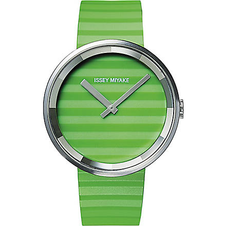 DEZEEN WATCH STORE Issey Miyake Please watch (Green