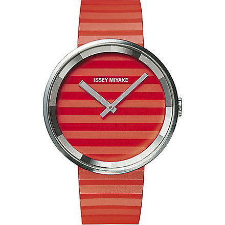 DEZEEN WATCH STORE Issey Miyake Please watch (Orange