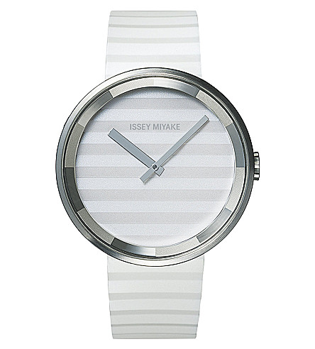 DEZEEN WATCH STORE Issey Miyake Please watch (White