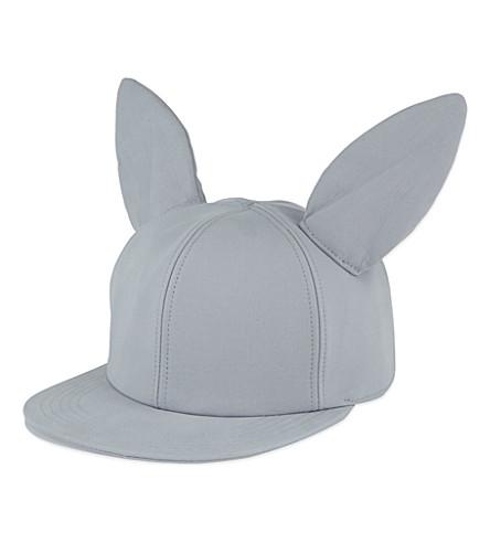 FEDERICA MORETTI Rabbit ears baseball cap (Light gray