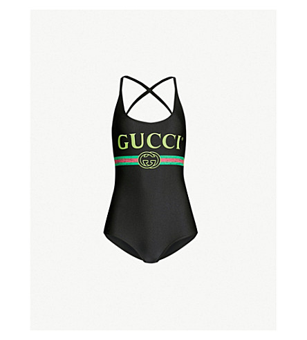 GUCCI Logo-print body (Black multi