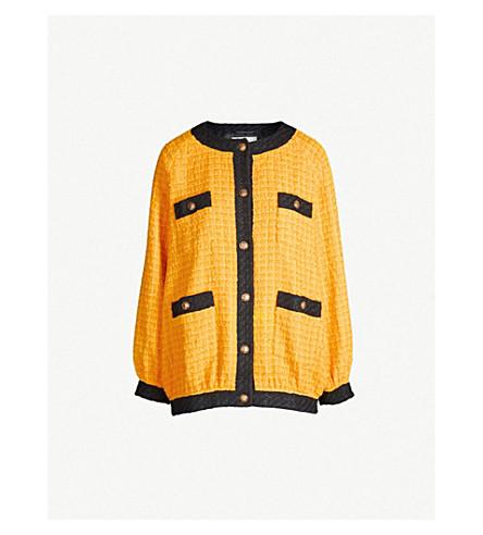 GUCCI Colour-blocked oversized cotton-blend jacket (Crop mc
