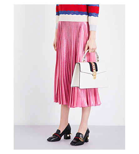 GUCCI Metallic pleated midi skirt (Princess rose