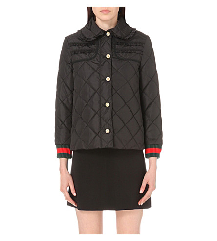 GUCCI - Ruffle-trim quilted jacket   Selfridges.com : gucci quilted jacket - Adamdwight.com