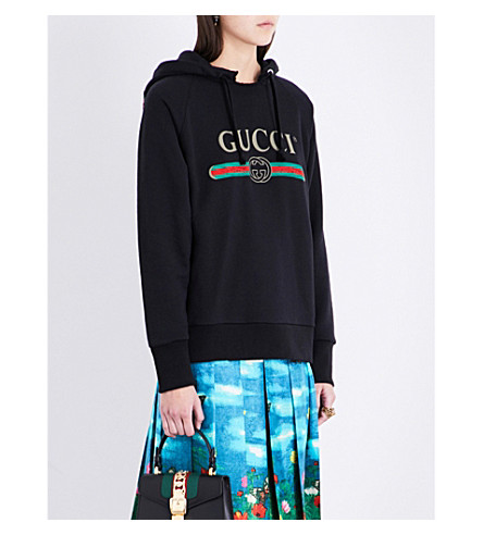 GUCCI Blind For Love cotton-jersey hoody (Black