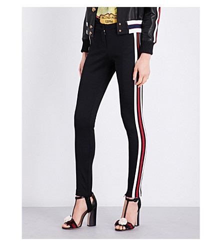 GUCCI Skinny cotton-blend leggings (Black