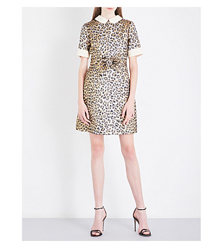 GUCCI Leopard jacquard dress (Leo+print