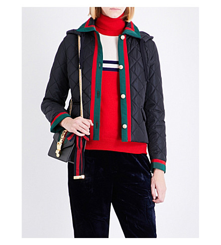 GUCCI Quilted shell jacket (Navy
