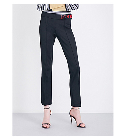 GUCCI Loved-embroidered jersey jogging bottoms (Black