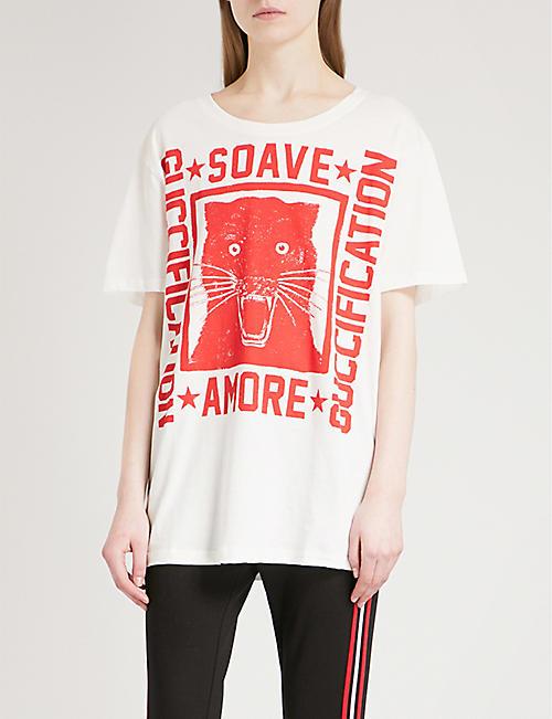 3c3365d3b676 GUCCI - T-shirts & Vests - Tops - Clothing - Womens - Selfridges ...