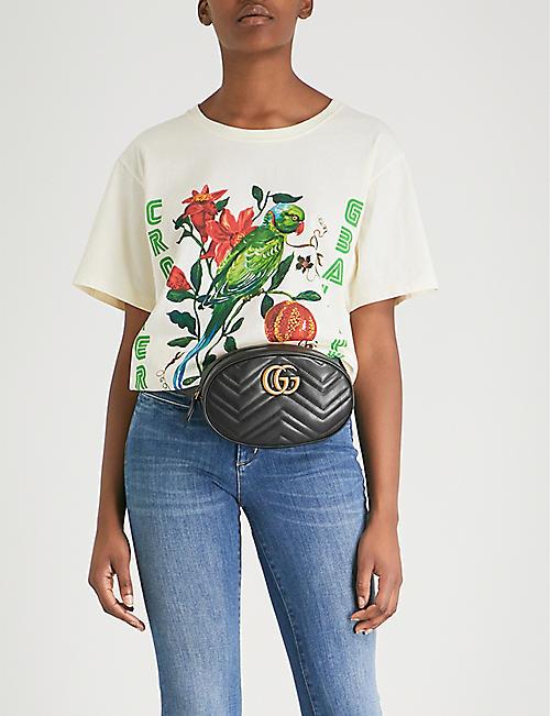 GUCCI Bird-print cotton-jersey T-shirt