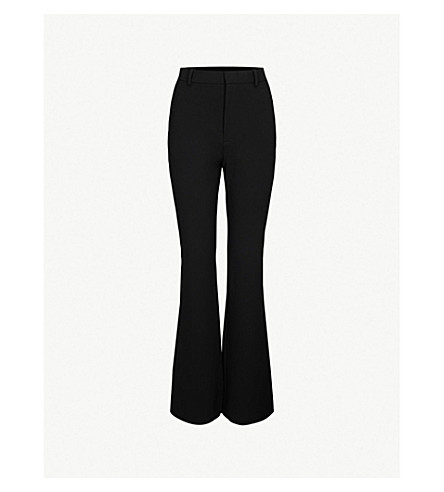 GUCCI Flared high-rise crepe trousers (Black