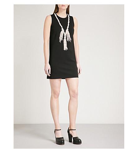 GUCCI Embellished stretch-crepe dress (Black