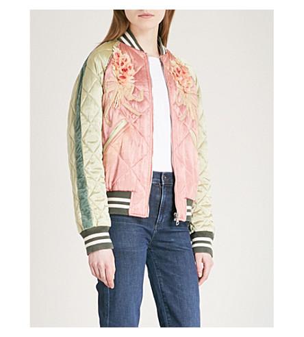 GUCCI Embellished satin bomber jacket (Multi