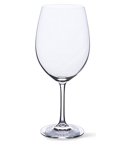 DARTINGTON Crystalline set of six large red wine glasses