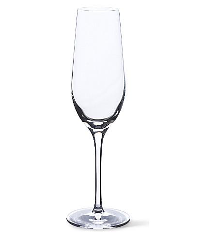 DARTINGTON 裸露的基本 64 套六 crystalilne 香槟长笛
