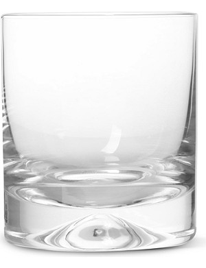 DARTINGTON Dimple pair of old fashioned crystal whisky glasses
