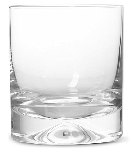 DARTINGTON 老式水晶威士忌眼镜的酒窝对
