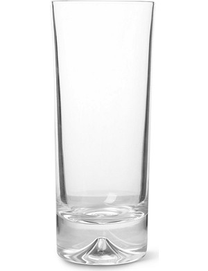 DARTINGTON Dimple pair of crystal highball glasses