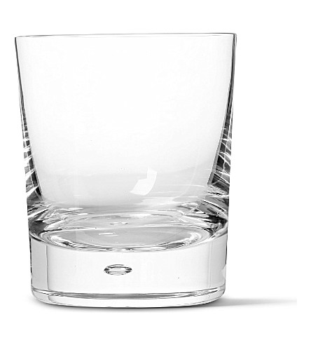 DARTINGTON Exmoor pair of old fashioned crystal double whisky glasses