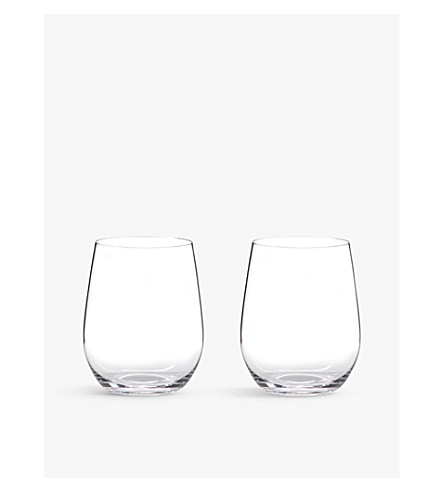 RIEDEL 'O' Viognier/Chardonnay wine tumblers pair