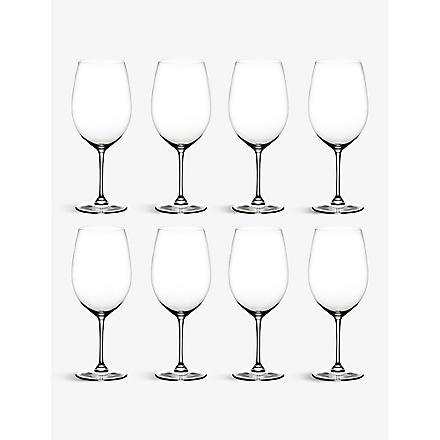 RIEDEL Vinum Bordeaux glasses set of eight